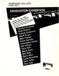 1981 Fine Art Graduation Exhibition Catalogue by V Wallace